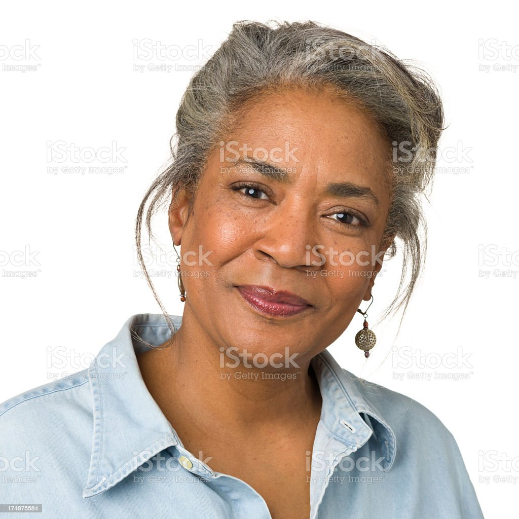 Cheerful Mature Woman Portrait royalty-free stock photo
