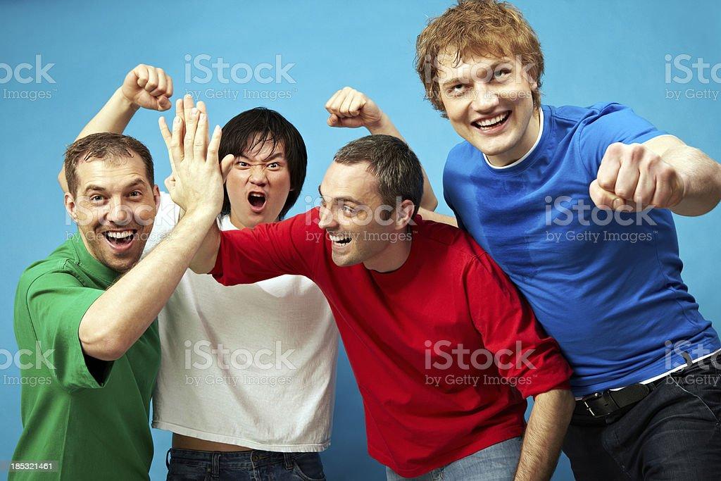 Cheerful men royalty-free stock photo