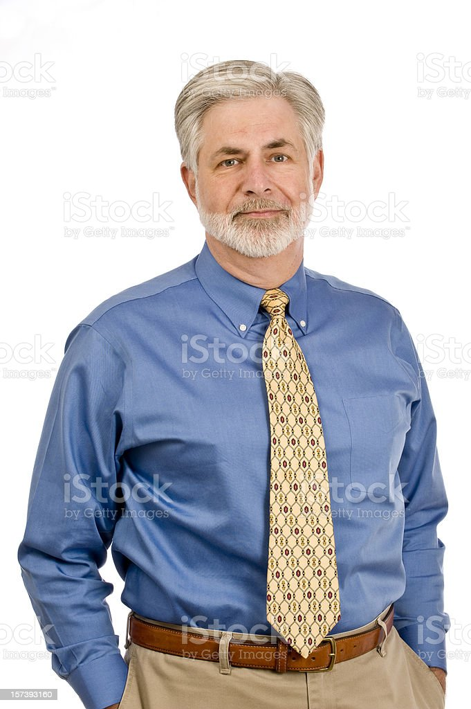 Cheerful Middle-aged Man royalty-free stock photo