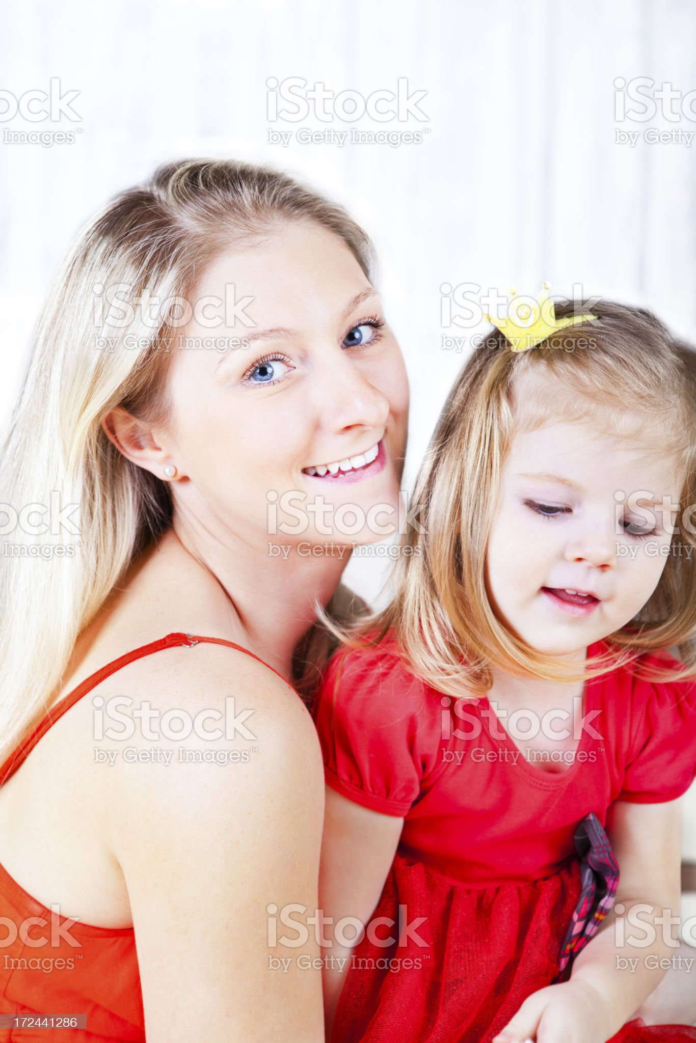 Cheerful Mother And Daughter royalty-free stock photo
