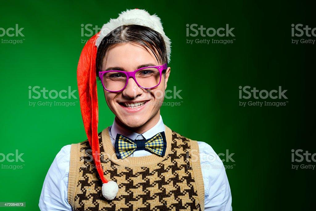 cheerful nerd royalty-free stock photo