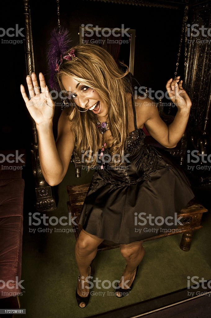 Cheerful Party Girl stock photo