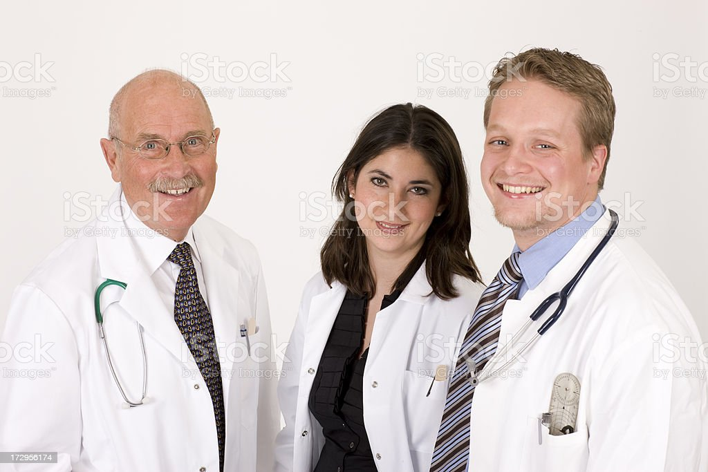 Cheerful physician team royalty-free stock photo
