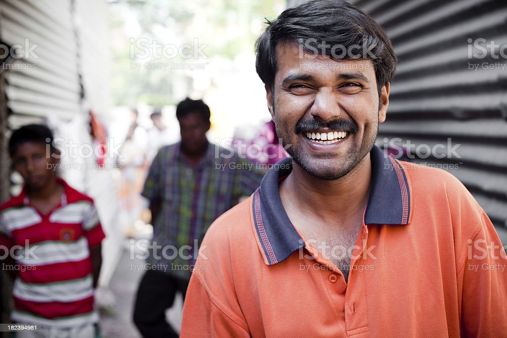 Cheerful Rural Indian Youth royalty-free stock photo