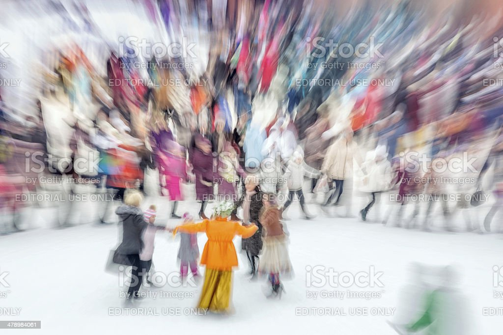 Cheerful Russian festival royalty-free stock photo