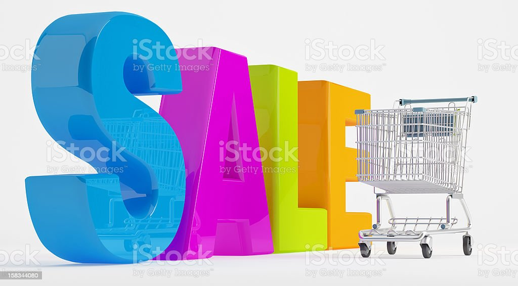 Cheerful selling royalty-free stock photo