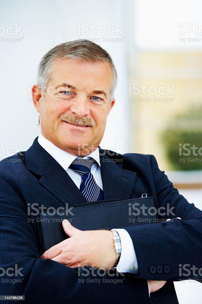 Cheerful senior businessman royalty-free stock photo