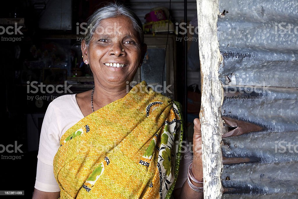 Cheerful Senior Indian Woman royalty-free stock photo