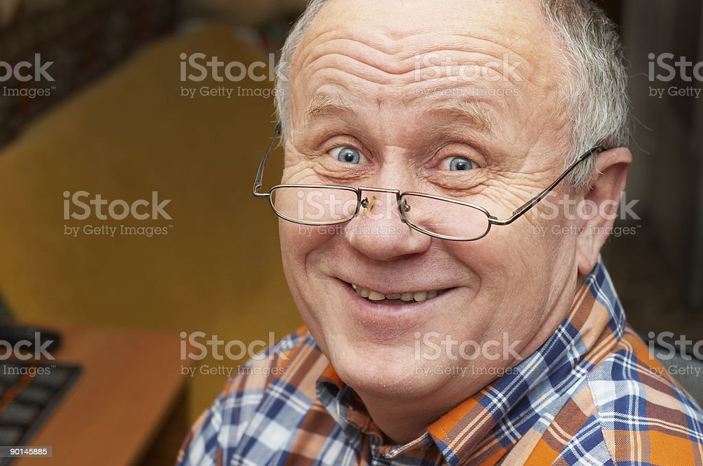 Cheerful senior man casual portrait. royalty-free stock photo