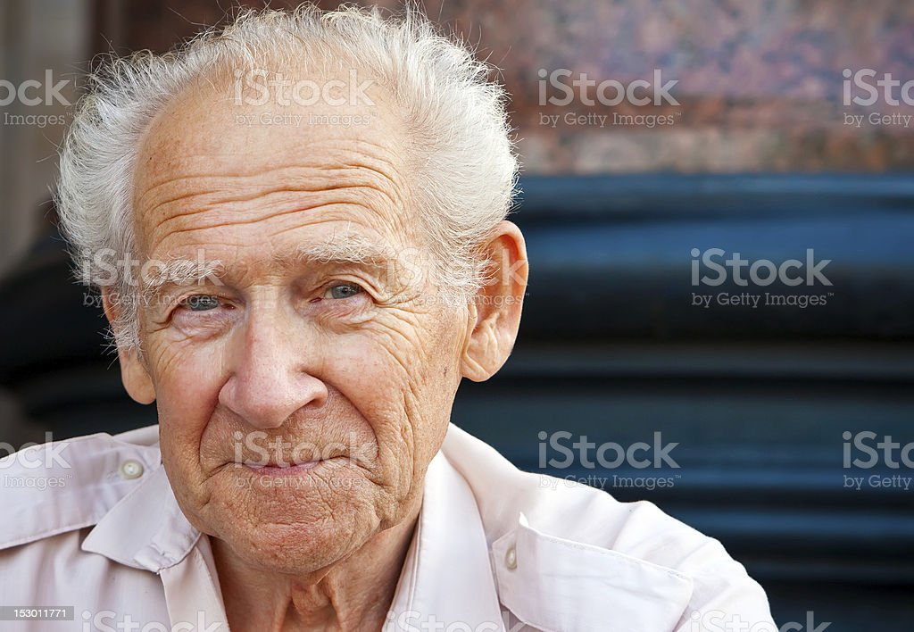 Cheerful Senior Man stock photo