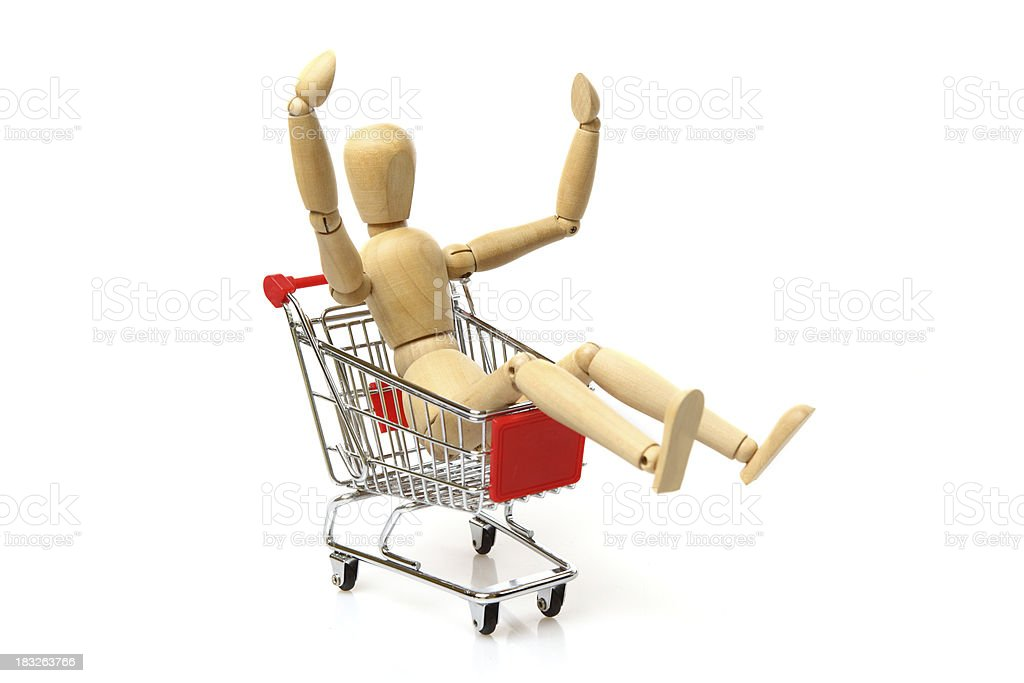 Cheerful shopping royalty-free stock photo