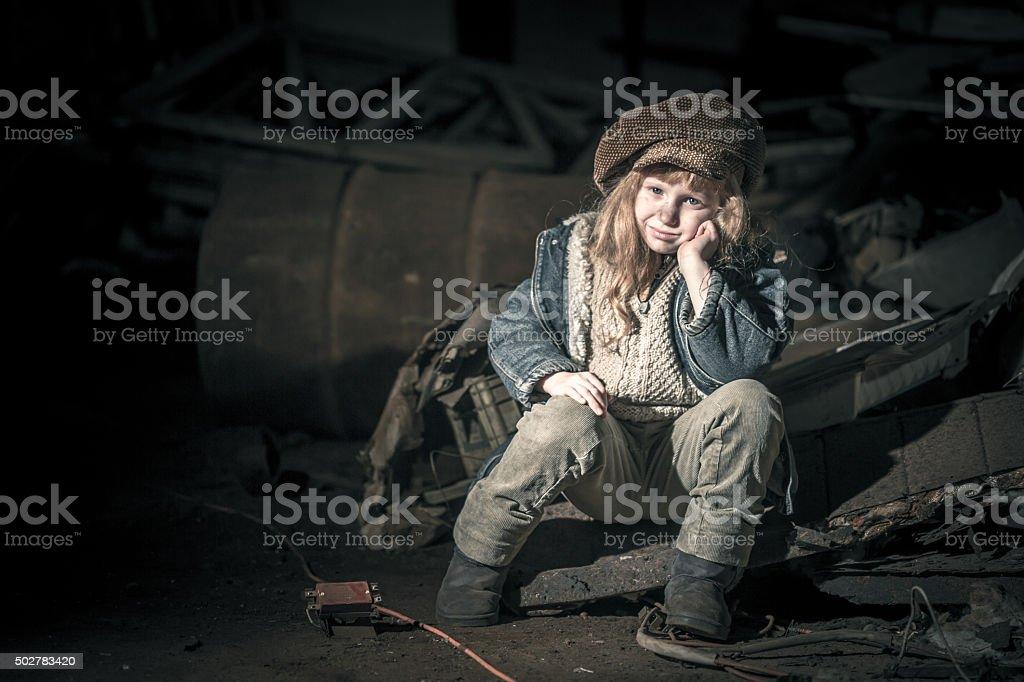 Cheerful Street Child stock photo