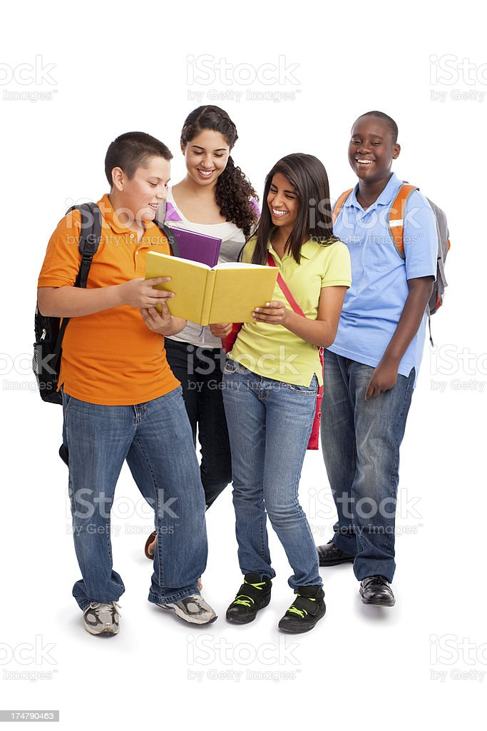 Cheerful students hanging out royalty-free stock photo