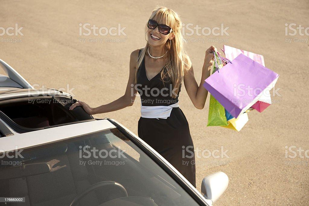 Cheerful stylish girl royalty-free stock photo