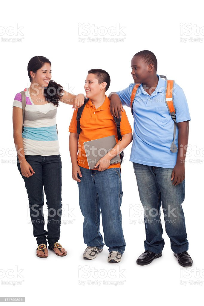 Cheerful teenage students royalty-free stock photo