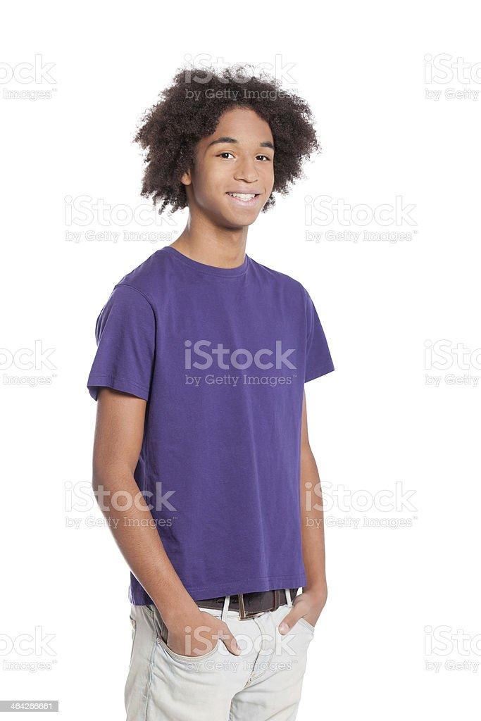 Cheerful teenager. stock photo