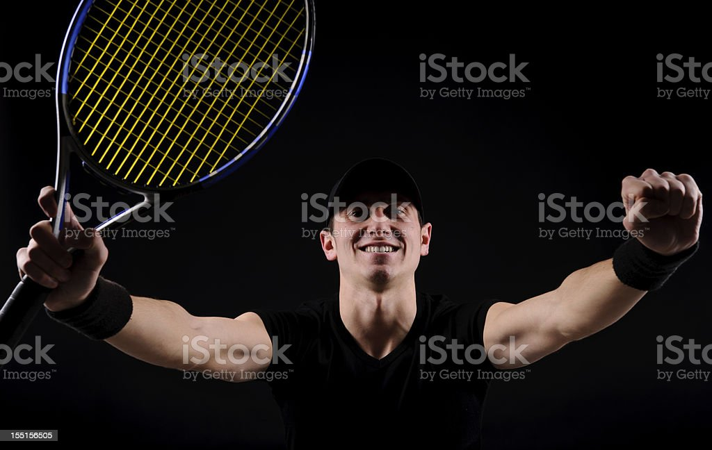cheerful tenis player royalty-free stock photo
