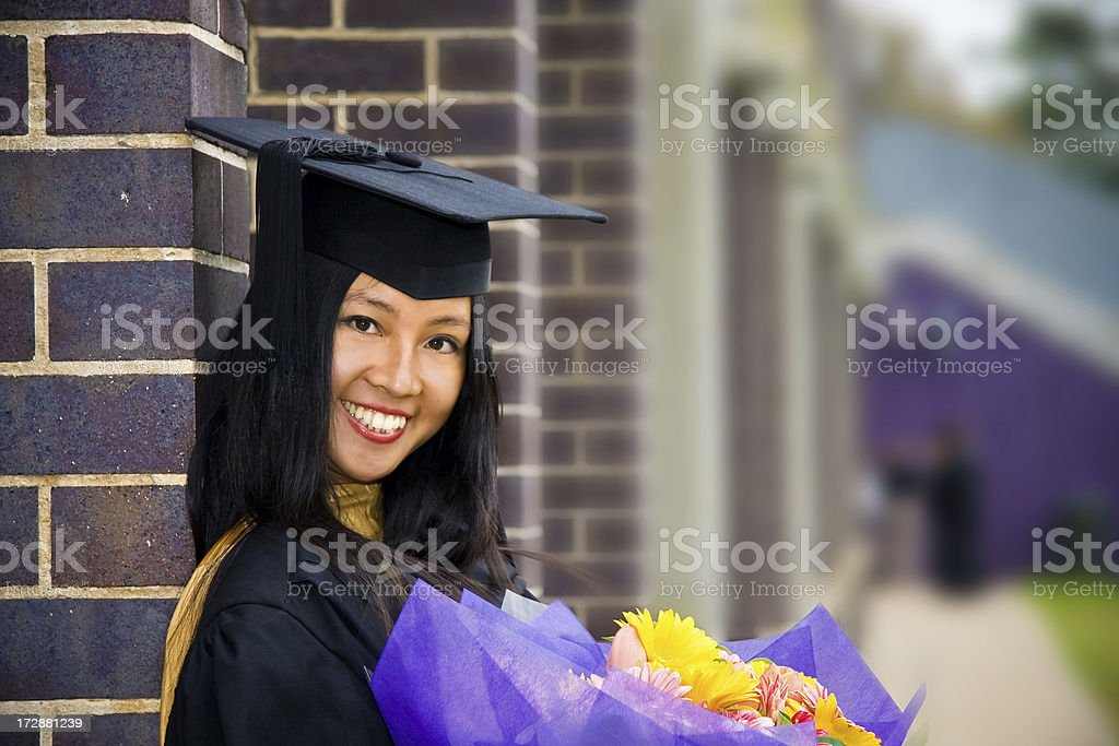 Cheerful Uni Graduate royalty-free stock photo