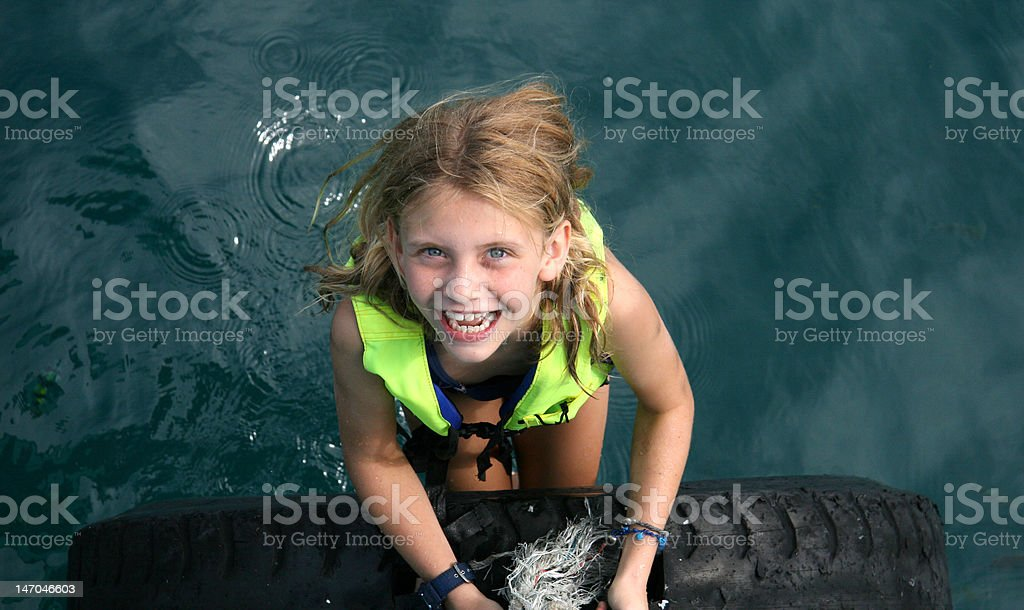 Cheerful Water Girl royalty-free stock photo