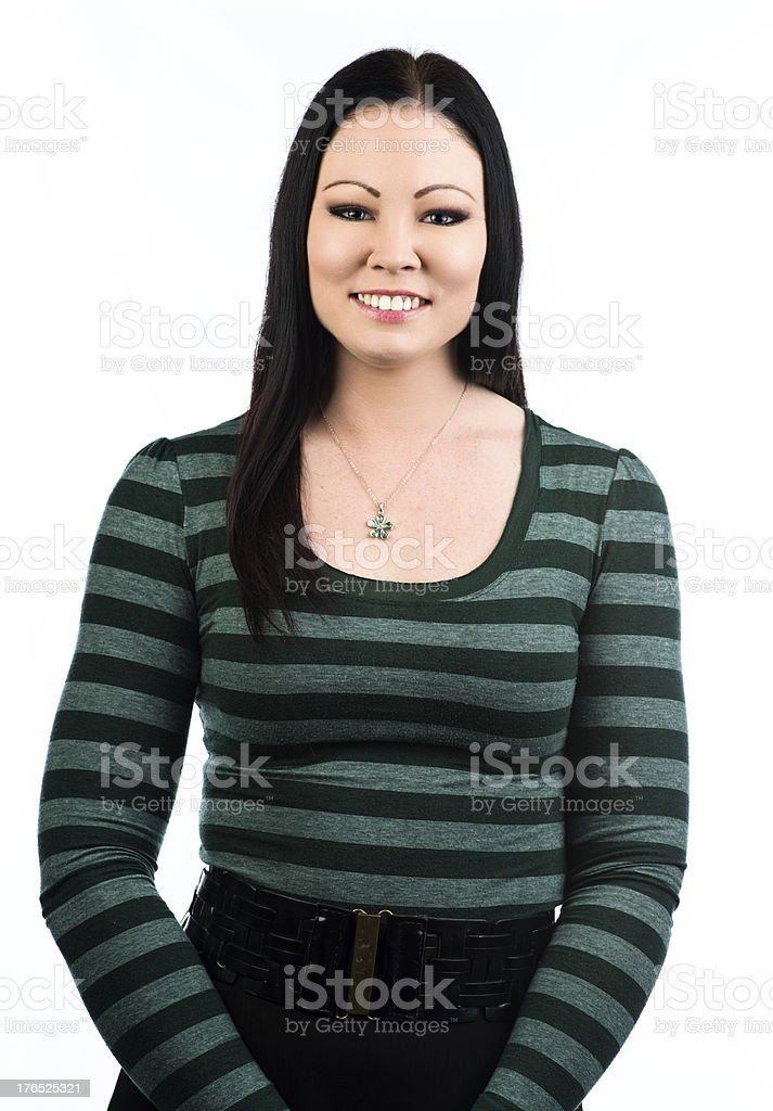 Cheerful woman royalty-free stock photo