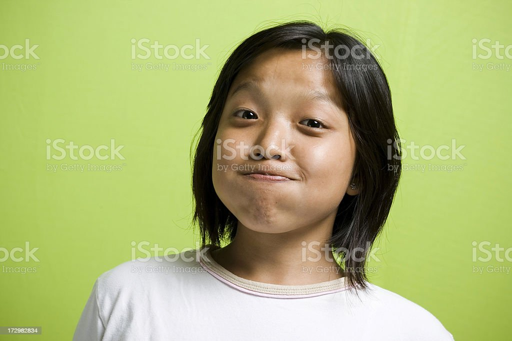 Cheerful Young Attractive East Indian Girl Making a Face royalty-free stock photo