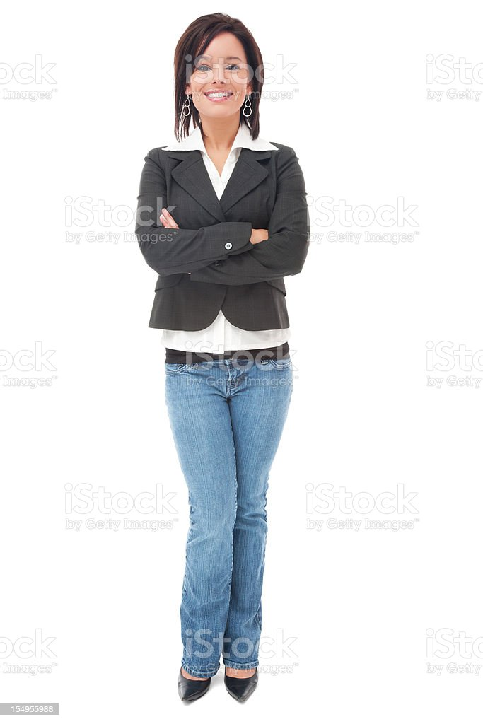 Cheerful Young Causal Businesswoman royalty-free stock photo