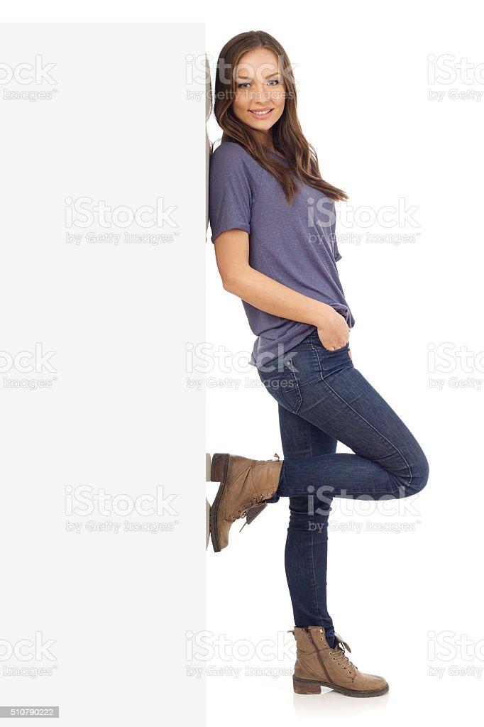 Cheerful young girl stock photo