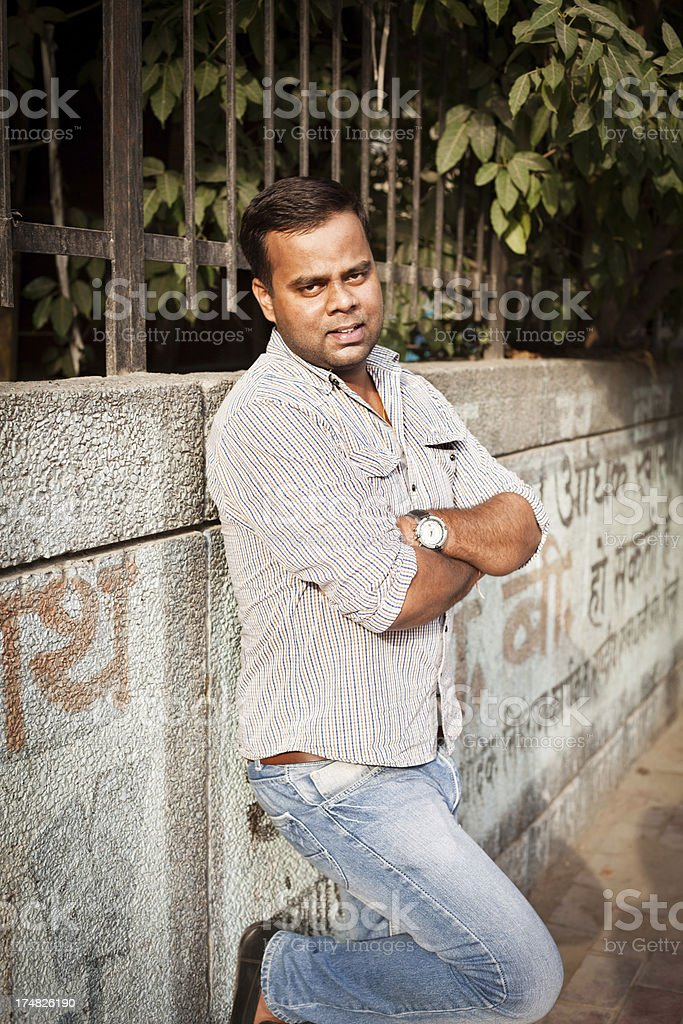 Cheerful Young Indian Man Outdoor Portrait royalty-free stock photo
