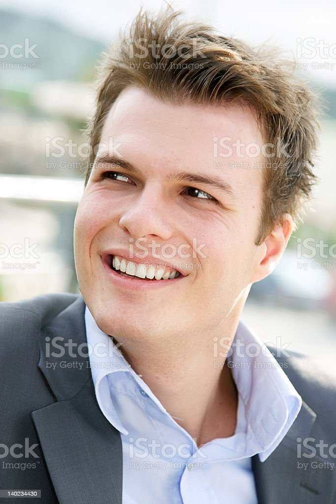 cheerful young man royalty-free stock photo