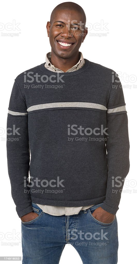 Cheerful Young Man Three Quarter Length Portrait royalty-free stock photo
