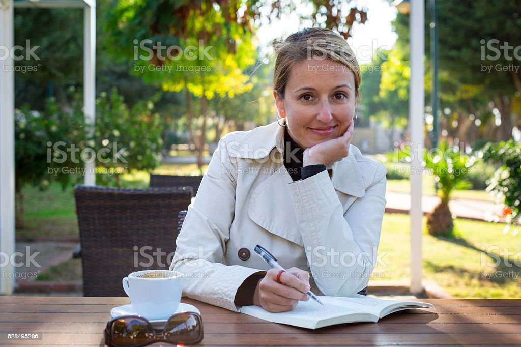 Cheerful young professional woman stock photo