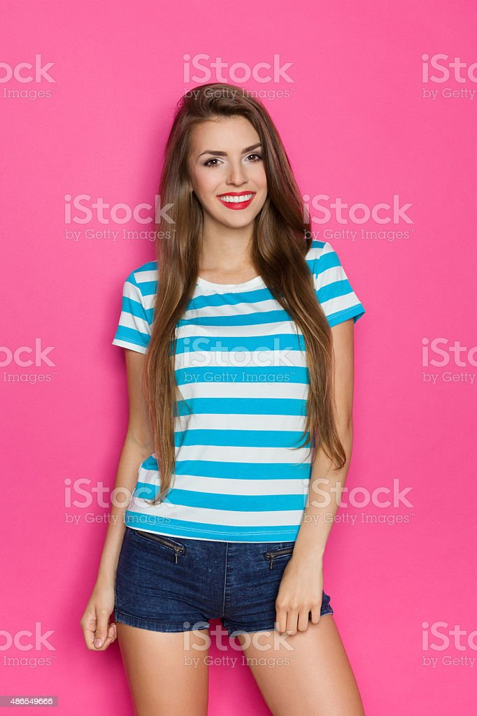 Cheerful Young Woman stock photo