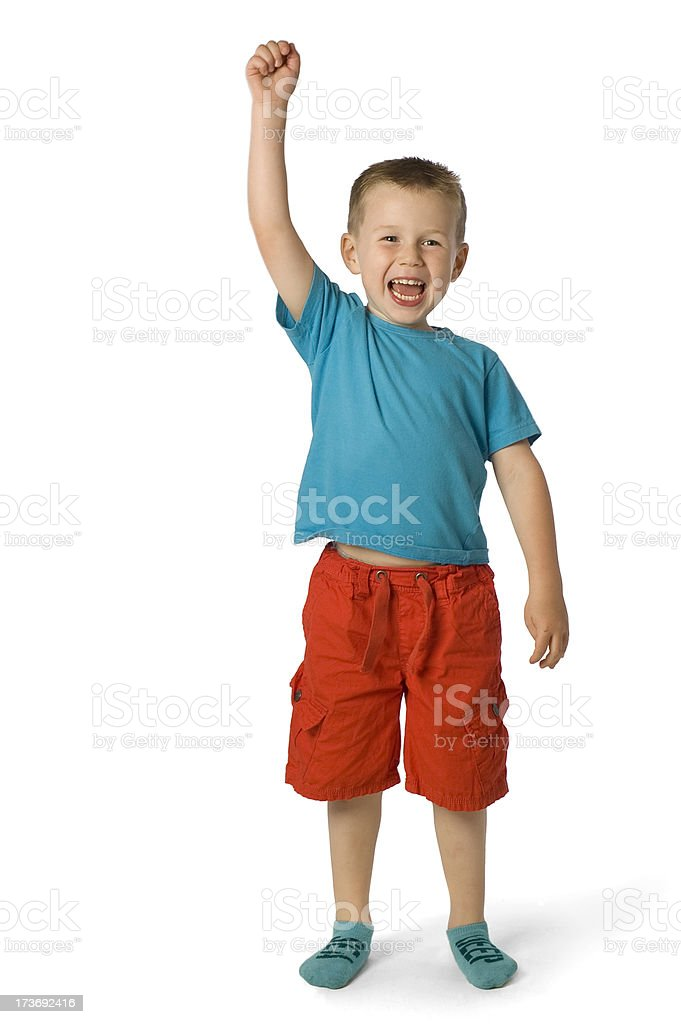cheering boy | winner royalty-free stock photo