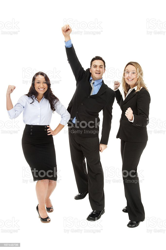 Cheering Business Team royalty-free stock photo