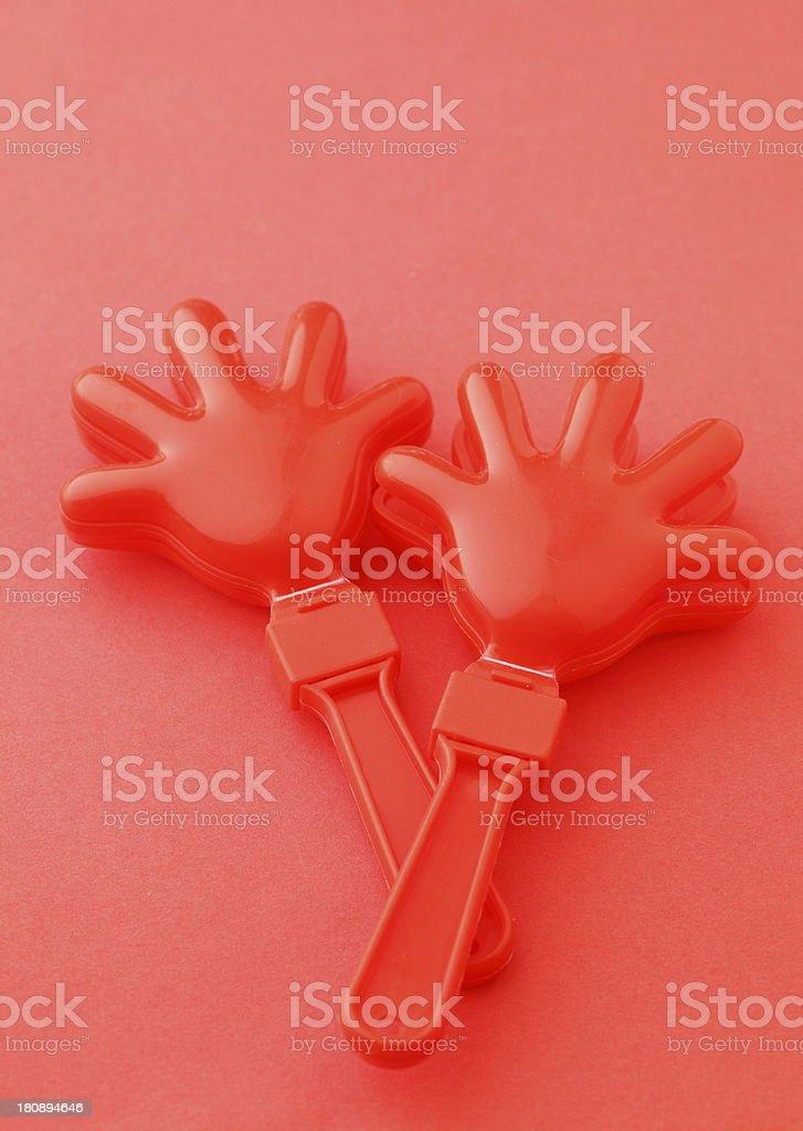 Cheering clap hand tool royalty-free stock photo