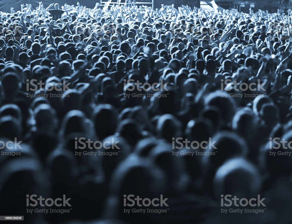 Cheering Concert Crowd royalty-free stock photo