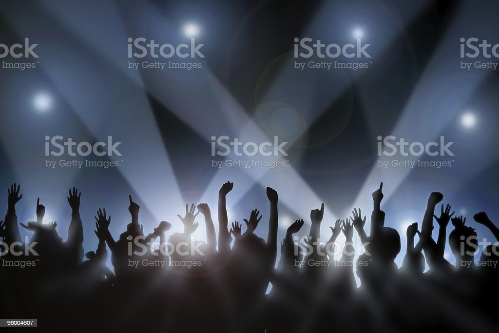 Cheering Crowd 3 stock photo