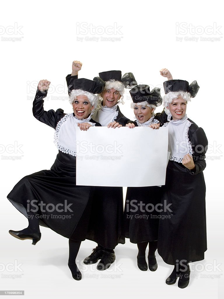 Cheering Grannies royalty-free stock photo