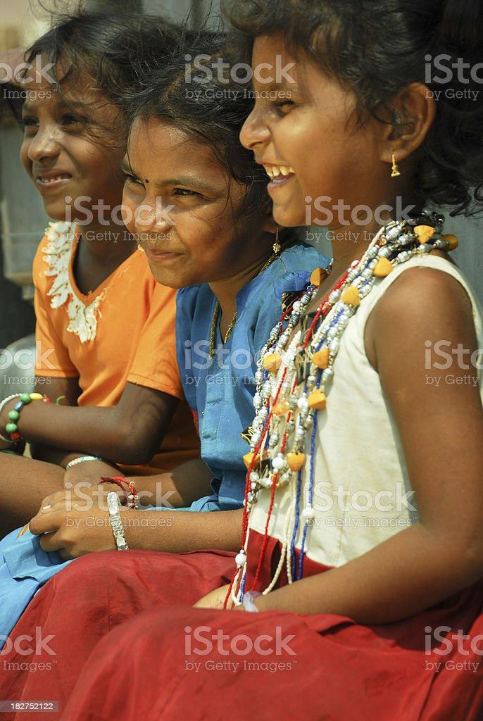 Cheering Indian Girls royalty-free stock photo