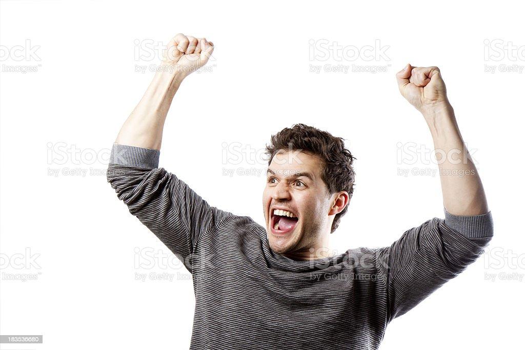 Cheering Man royalty-free stock photo