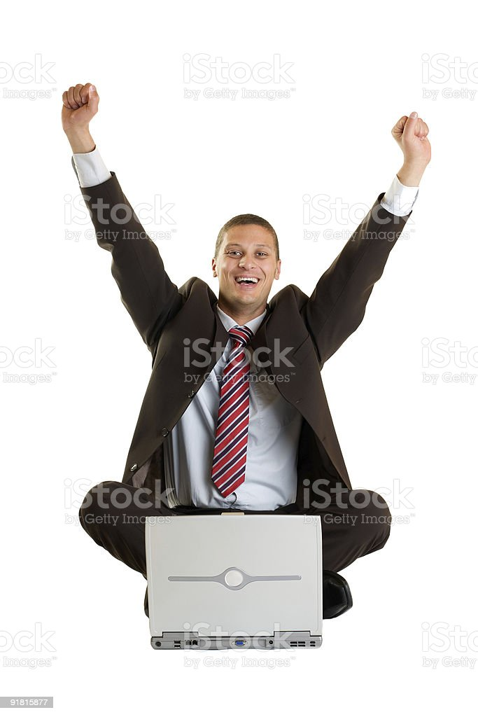 Cheering Manager royalty-free stock photo