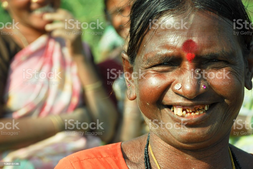 Cheering old woman royalty-free stock photo