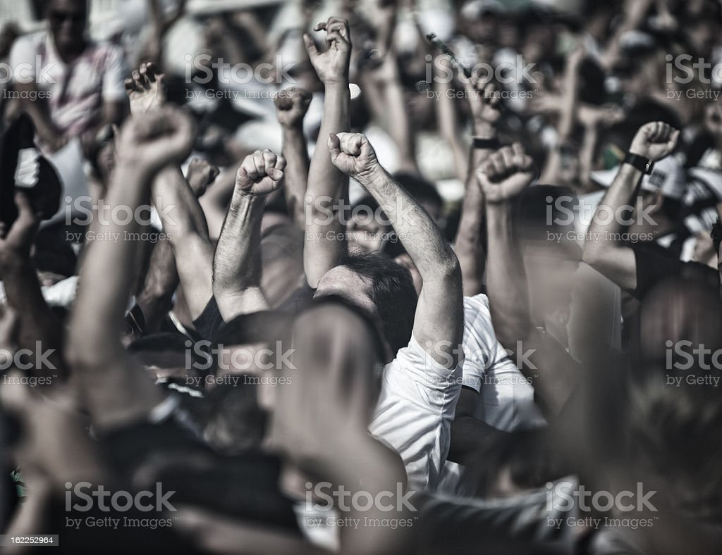 Cheering People stock photo