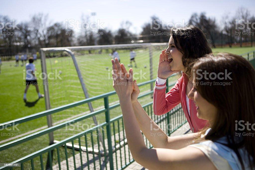 Cheering royalty-free stock photo