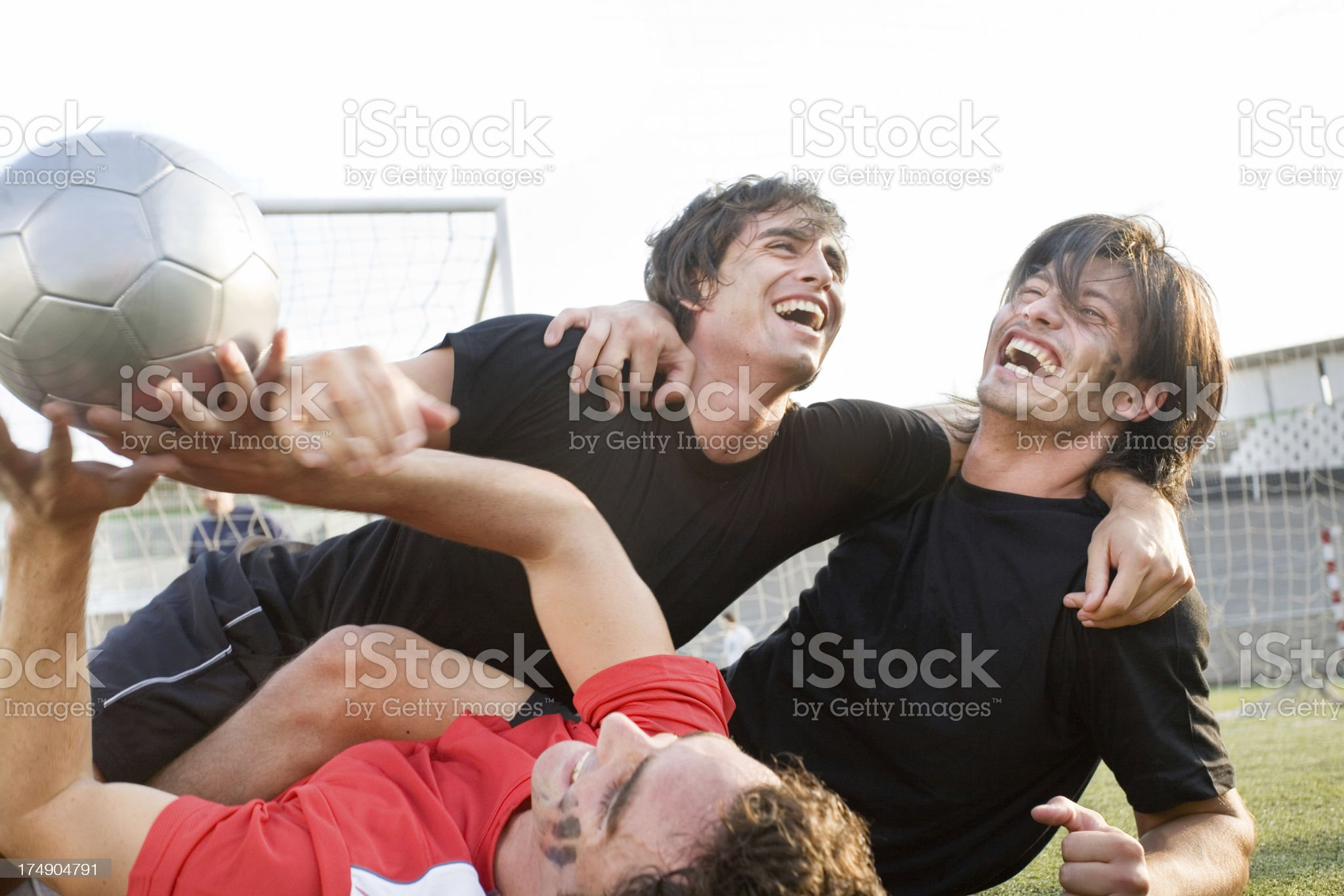 Cheering players royalty-free stock photo