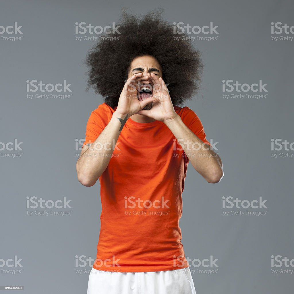 cheering soccer world cup fan royalty-free stock photo
