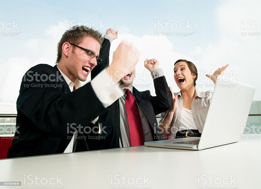 Cheering Successful Business Team royalty-free stock photo