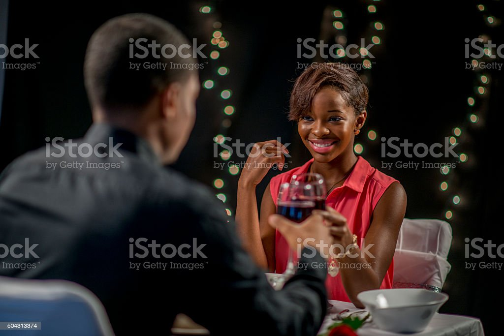 Cheering Together as a Couple stock photo
