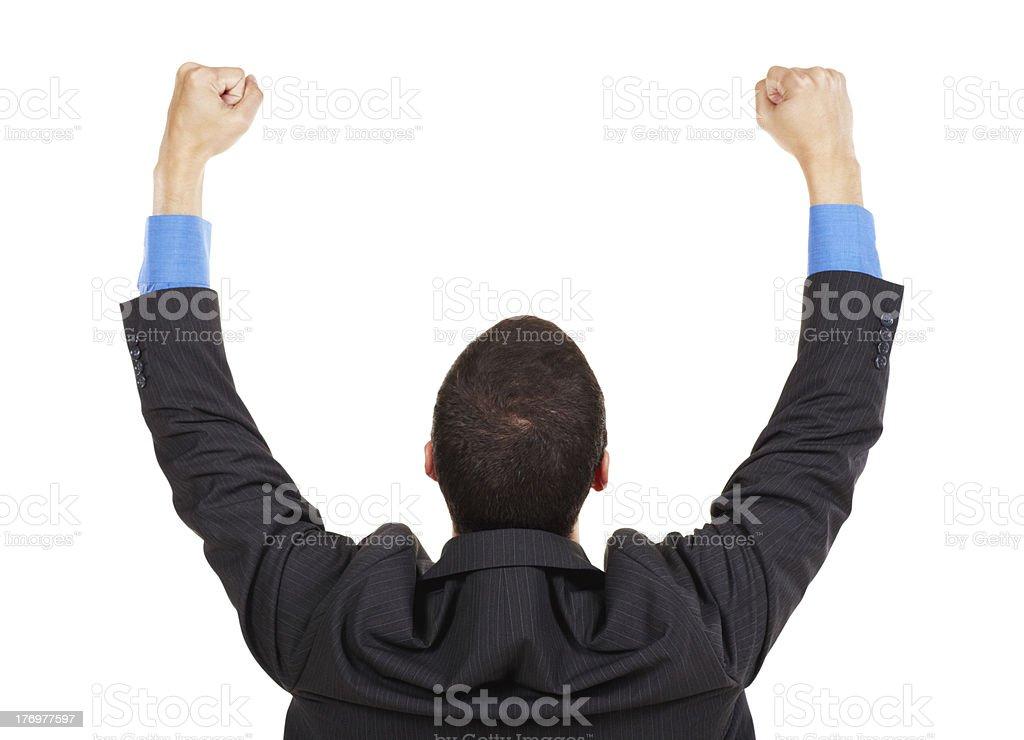 Cheering toward future success royalty-free stock photo