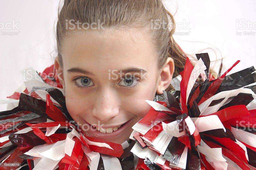Cheerleader head shot royalty-free stock photo